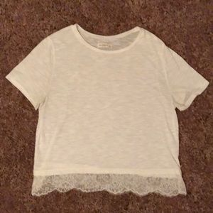 Abercrombie & Fitch White Short Sleeve Top